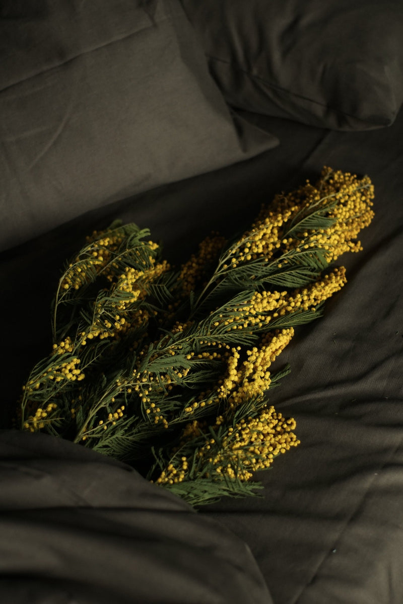 Linen Bedding Set - Olive Grey, Bedding Set, The Flax Sack, - The Clean Market
