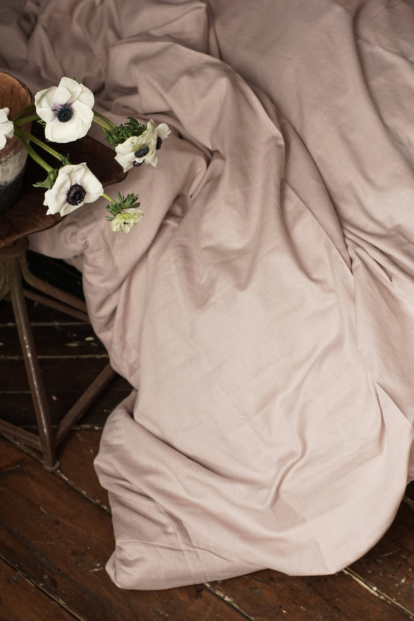 Linen Duvet Cover - Champagne Pink, Bedding Set, The Flax Sack, - The Clean Market