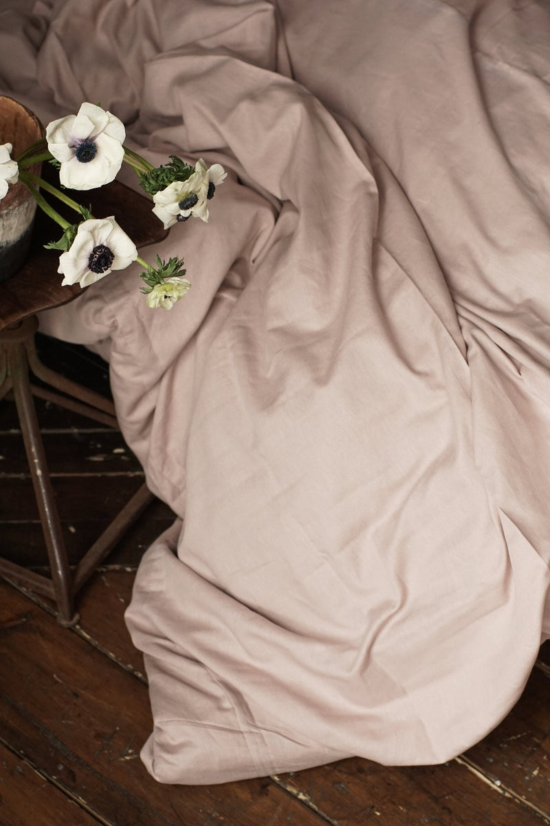 Linen Duvet Cover - Champagne Pink, The Flax Sack, The Clean Market