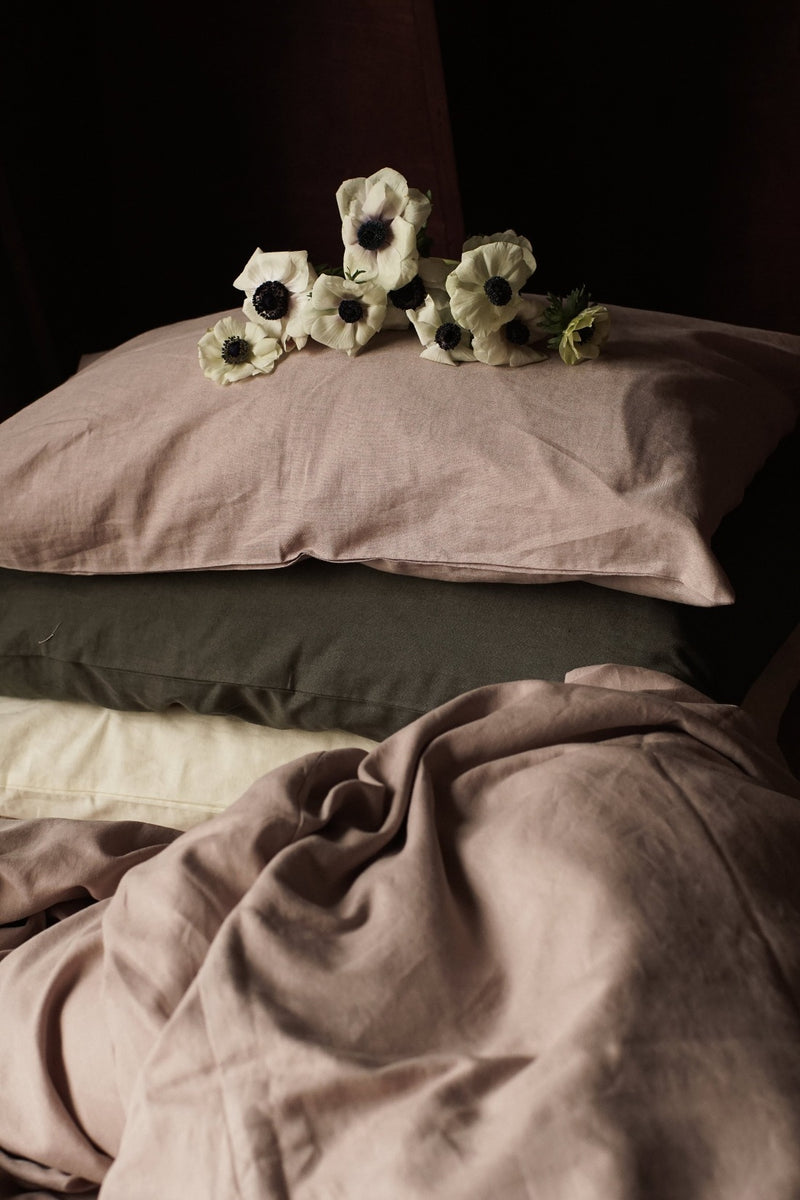 Linen Pillowcases (Set of 2) - Champagne Pink, The Flax Sack, The Clean Market