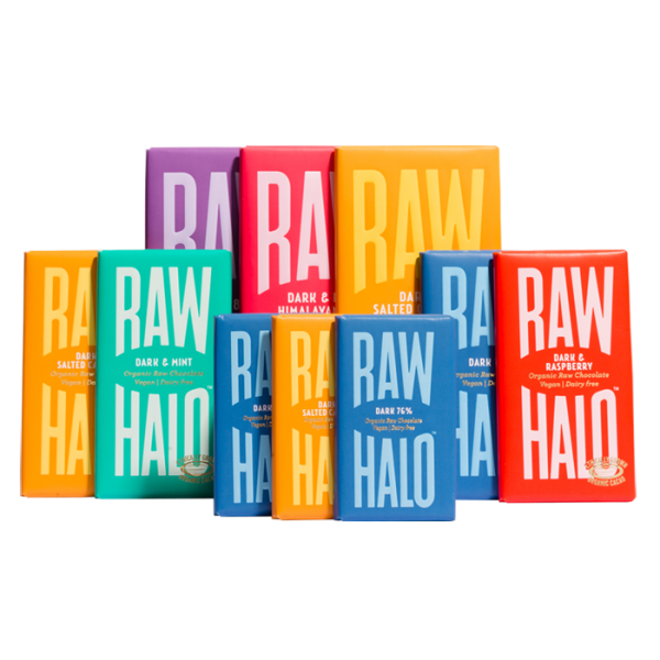 Vegan Chocolate Gift Collection - Dark, Raw Halo, The Clean Market