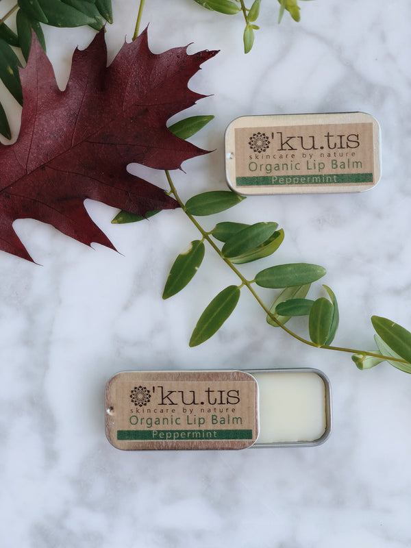 Organic Lip Balm - Peppermint, Lip Butter, Ku.tis, - The Clean Market