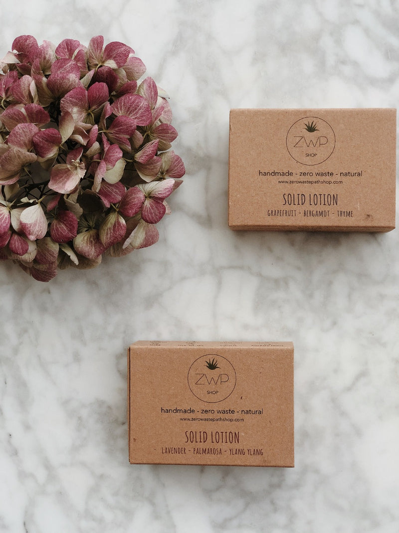 Solid Lotion - Floral, Zero Waste Path, The Clean Market