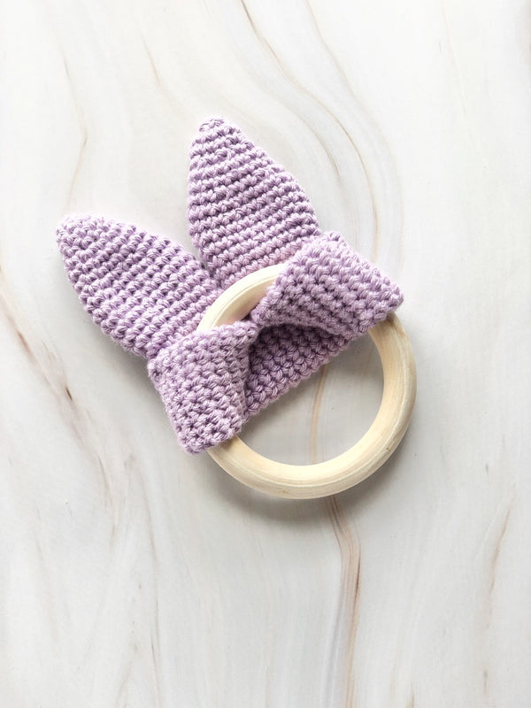 Handmade Crochet Teether - Purple, The Clean Market, The Clean Market
