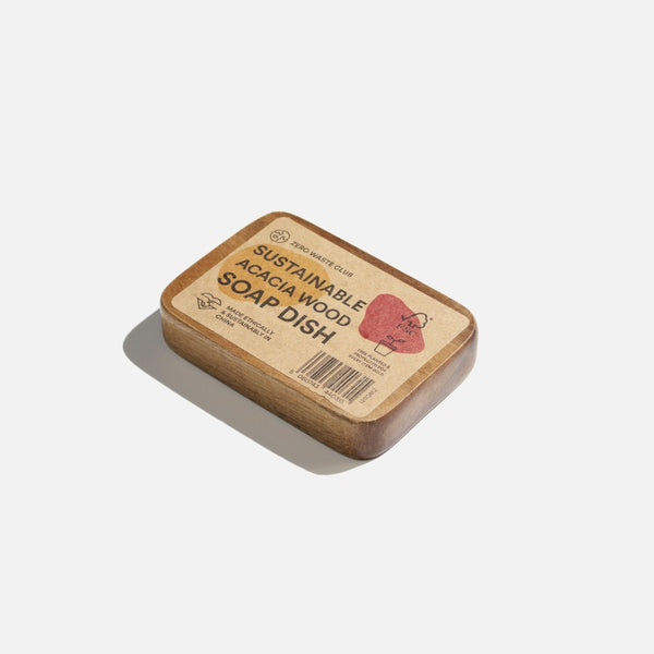 Acacia Wood Soap Dish, Zero Waste Club, The Clean Market
