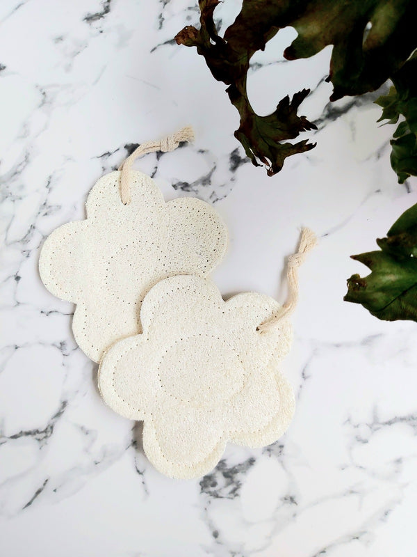 Natural Loofah Bath Sponge - Flower, The Clean Market LDN, The Clean Market