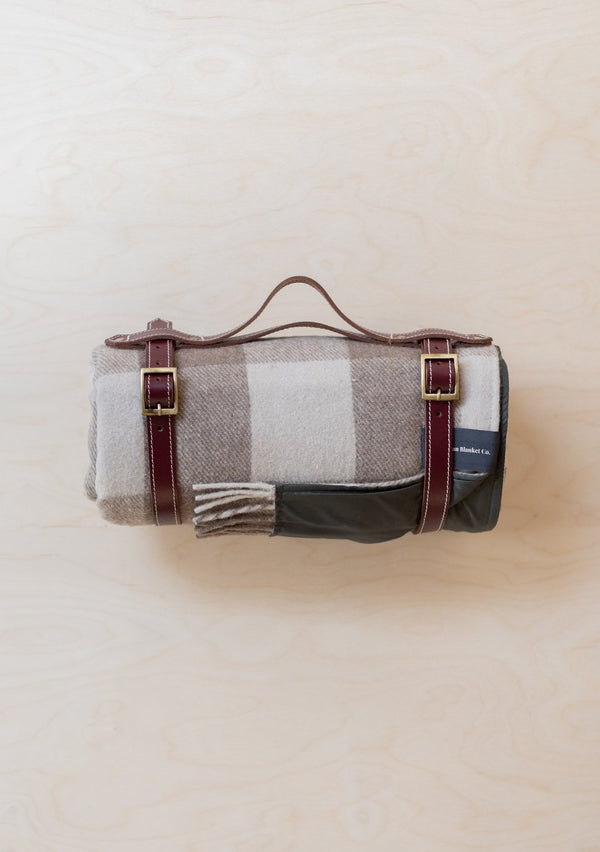 Recycled Wool Waterproof Picnic Blanket - Jacob Tartan, The Tartan Blanket Co, The Clean Market