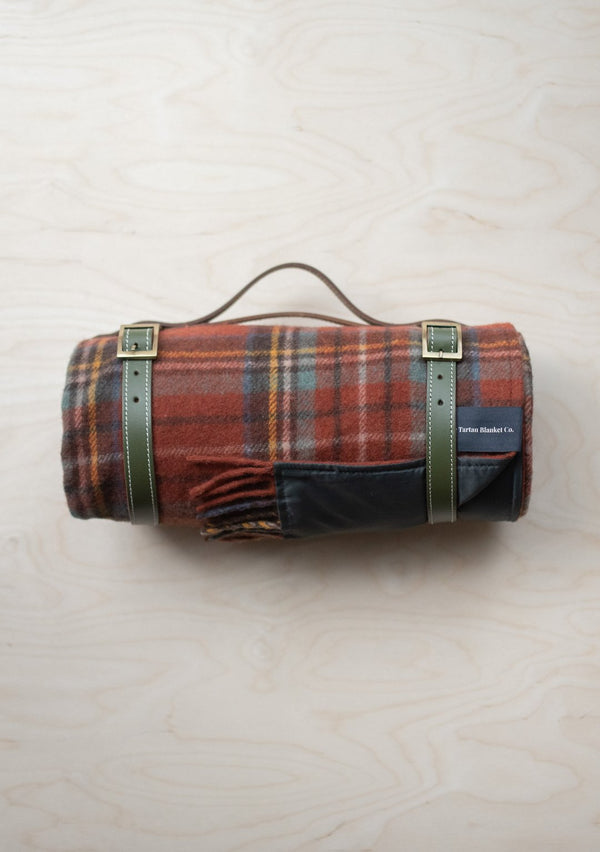 Recycled Wool Waterproof Picnic Blanket - Royal Antique Tartan, The Tartan Blanket Co, The Clean Market