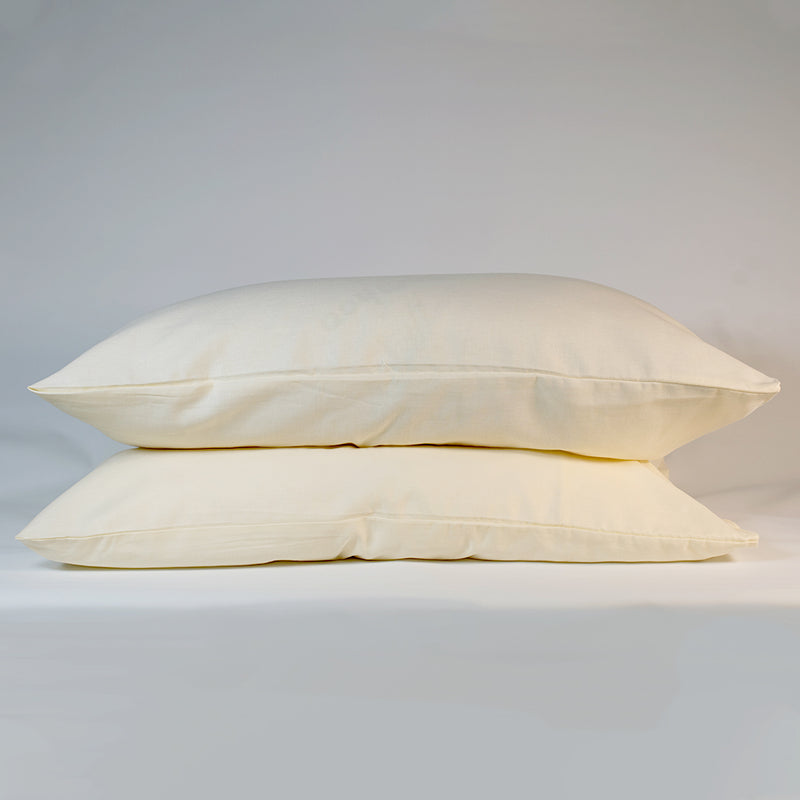 Linen Pillowcases (Set of 2) - Oyster White, Bedding Set, The Flax Sack, - The Clean Market
