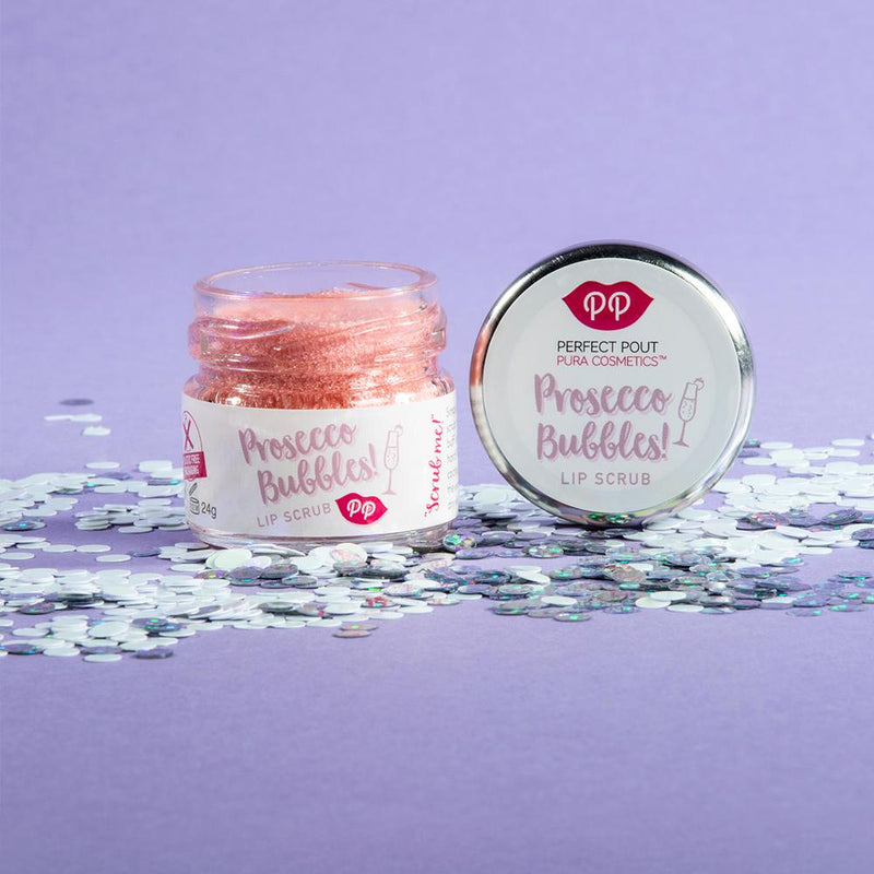 Lip Scrub - Prosecco Bubbles, Pura Cosmetics, The Clean Market