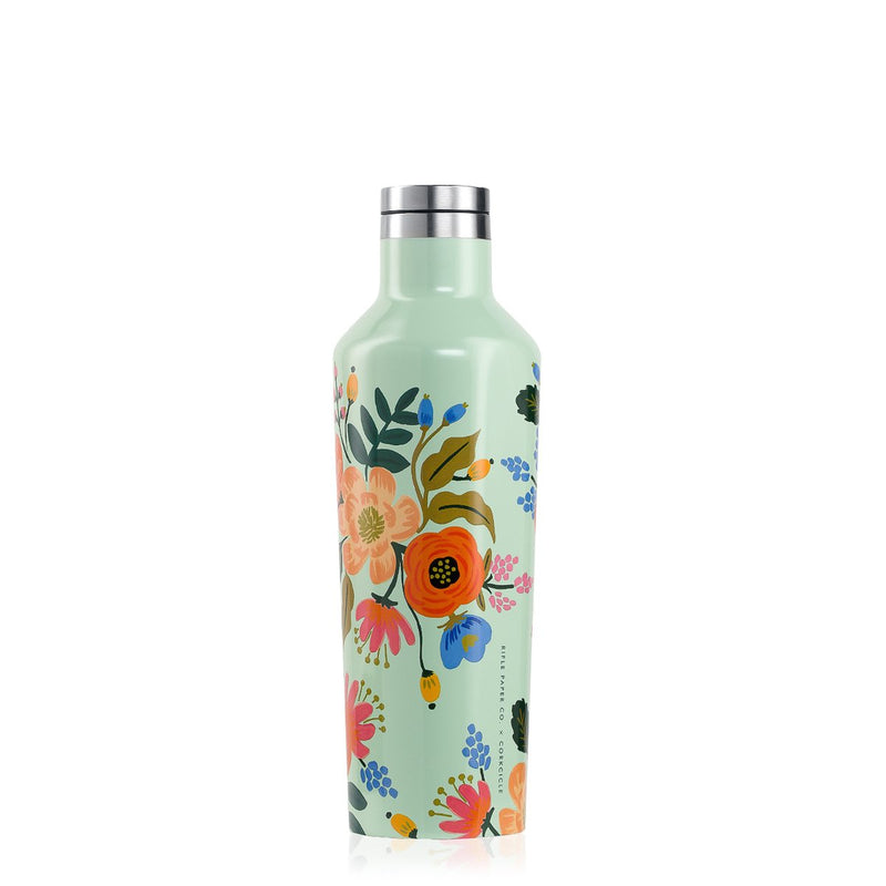 Canteen Bottle - Mint Lively Floral, Auteur, The Clean Market