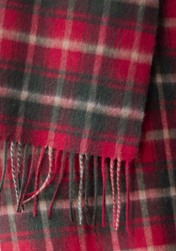 Pure Lambswool Scarf - Dark Maple Tartan, Scarf, The Tartan Blanket Co, - The Clean Market