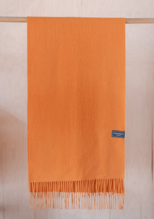 Oversized Pure Lambswool Scarf - Warm Ochre, Scarf, The Tartan Blanket Co, - The Clean Market
