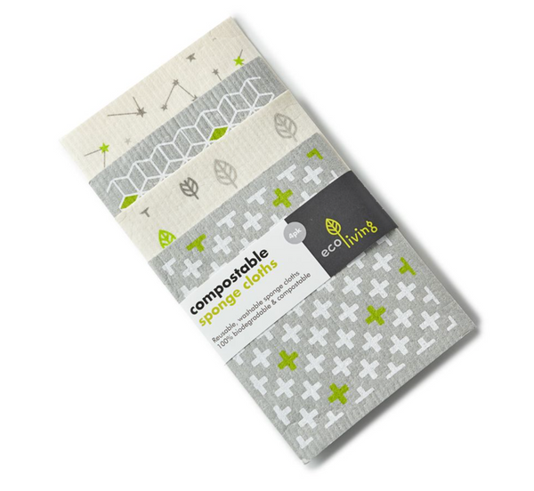 Compostable Sponge Cleaning Cloths (Pack of 4) - The Clean Market