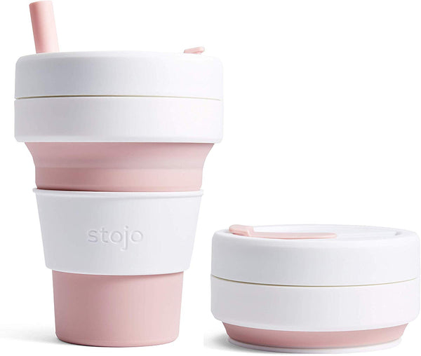 Stojo Collapsible Coffee Cup - Rose 16oz (470ml), Coffee Cup, Auteur, - The Clean Market