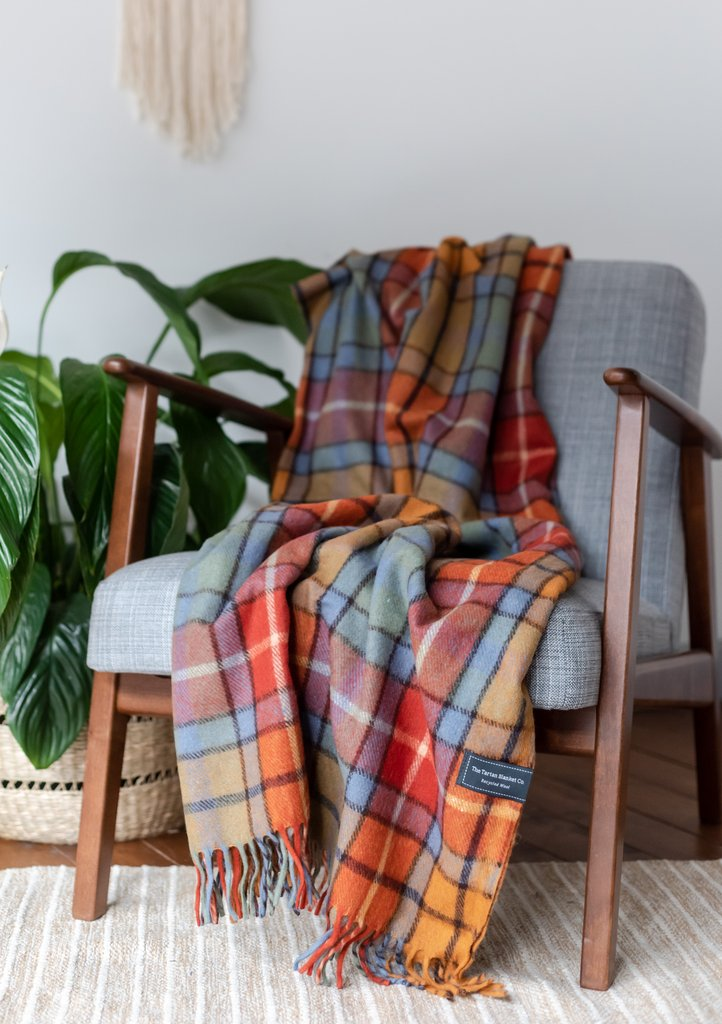 Recycled Wool Knee Blanket - Buchanan Antique Tartan, The Tartan Blanket Co, The Clean Market