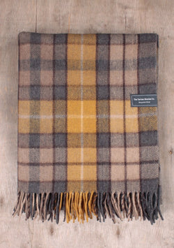 Recycled Wool Knee Blanket - Buchanan Natural Tartan