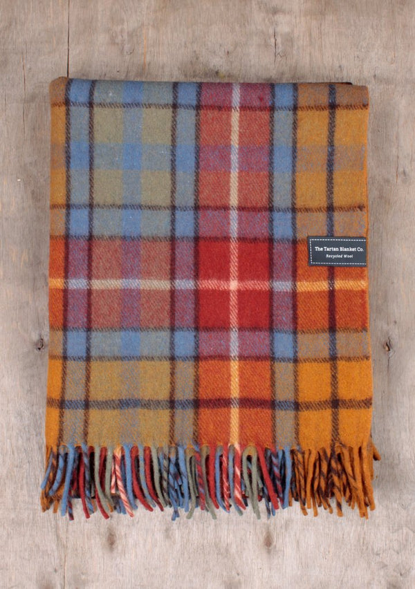 Recycled Wool Knee Blanket - Buchanan Antique Tartan, blanket, The Tartan Blanket Co, - The Clean Market