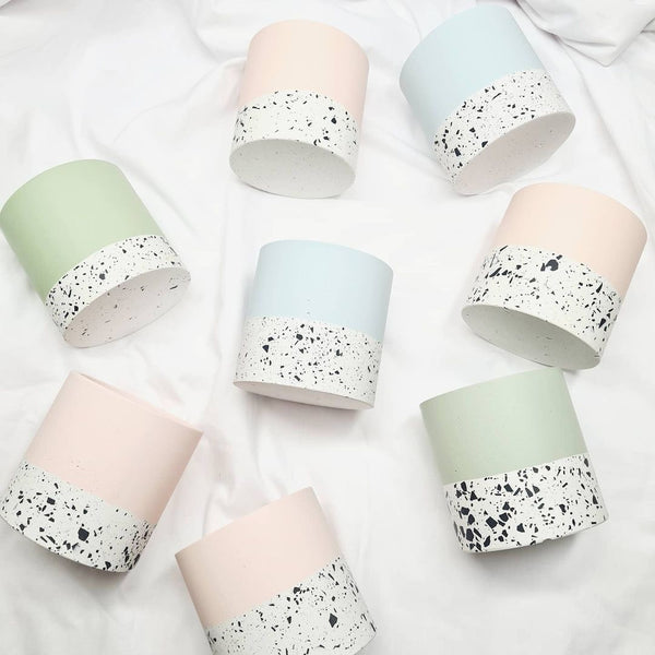 Terrazzo Pot - Pink & Monochrome, Made by Paulina, The Clean Market