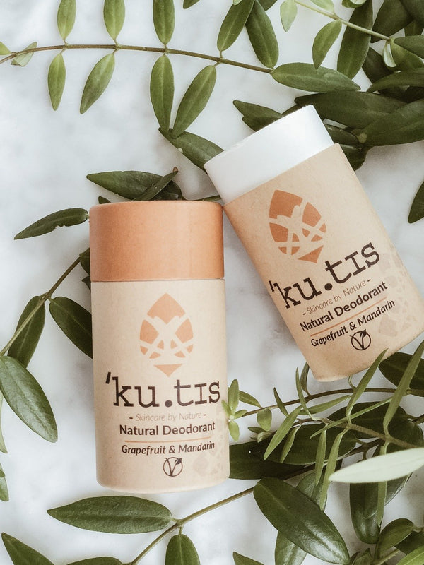 Natural Deodorant - Grapefruit & Mandarin, Deodorant, Ku.tis, - The Clean Market