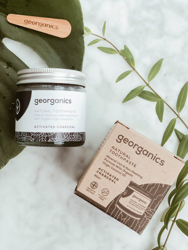 Natural Toothpaste - Activated Charcoal, Georganics, The Clean Market
