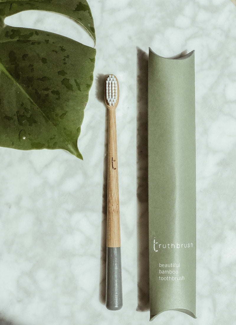 Bamboo Toothbrush - Medium - Storm Grey, Green Pioneer, The Clean Market