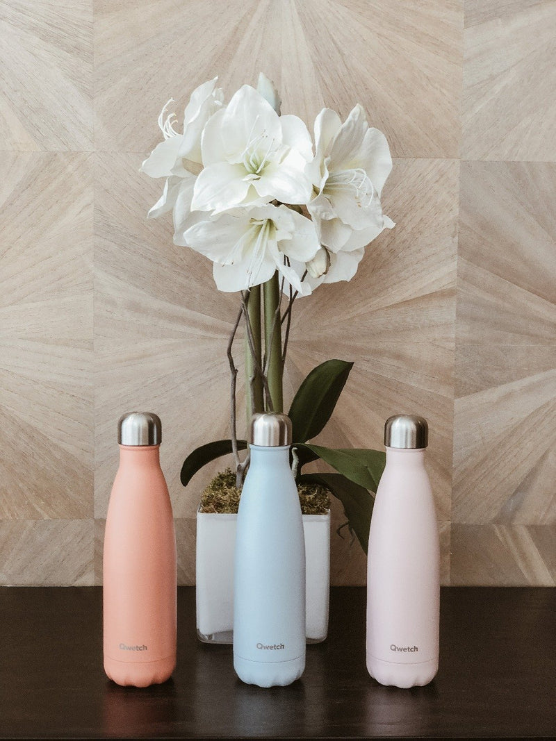 Insulated Stainless Steel Bottle - Pastel Pink, Bottle, Qwetch, - The Clean Market