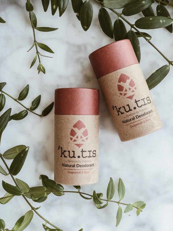 Natural Deodorant - Rose & Grapefruit, Ku.tis, The Clean Market