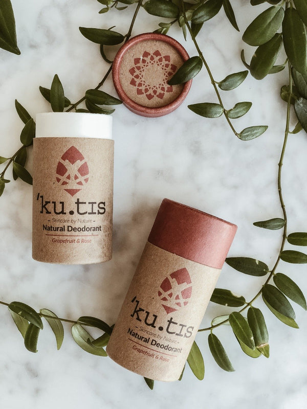 Natural Deodorant - Rose & Grapefruit, Deodorant, Ku.tis, - The Clean Market