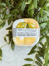 Reusable Facial Rounds (Pack of 20) - Vintage lemons, Marley's Monsters, The Clean Market