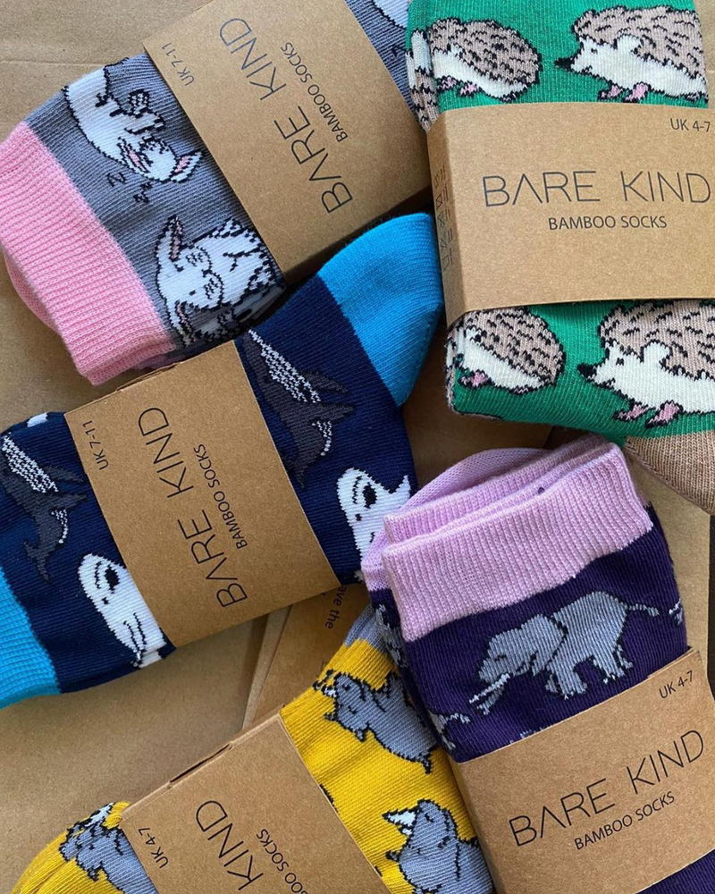 Bamboo Socks - Bees, Bare Kind, The Clean Market