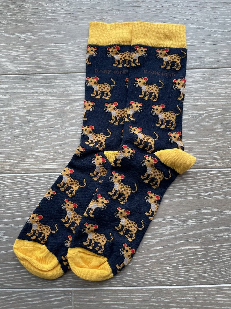Bamboo Socks - Amur Leopard, Bare Kind, The Clean Market