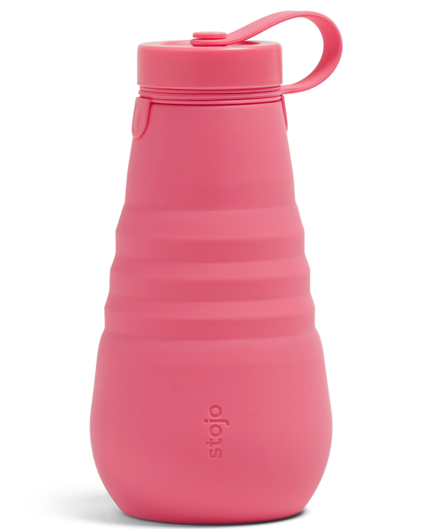 Stojo Collapsible Bottle - Peony 20oz (591ml), Auteur, The Clean Market