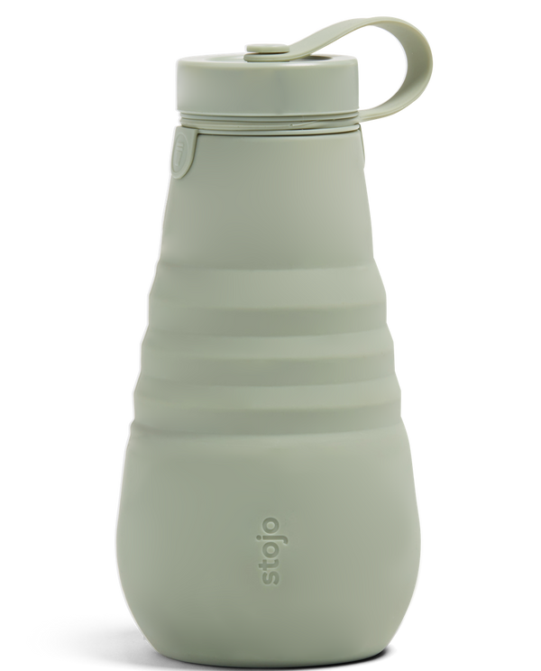 Stojo Collapsible Bottle - Sage 20oz (591ml), Auteur, The Clean Market