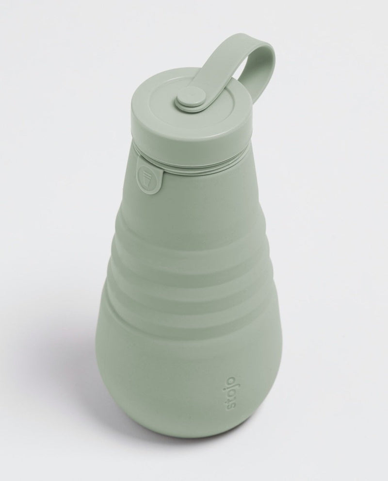 Stojo Collapsible Bottle - Sage 20oz (591ml), Bottle, Auteur, - The Clean Market