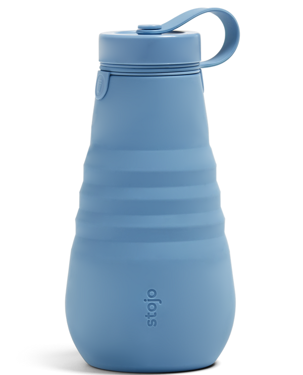 Stojo Collapsible Bottle - Steel Blue 20oz (591ml), Auteur, The Clean Market