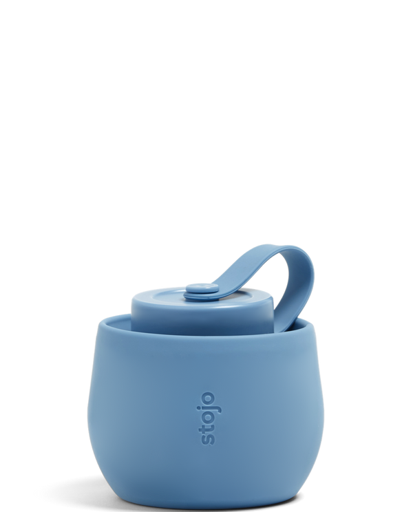 Stojo Collapsible Bottle - Steel Blue 20oz (591ml) - The Clean Market