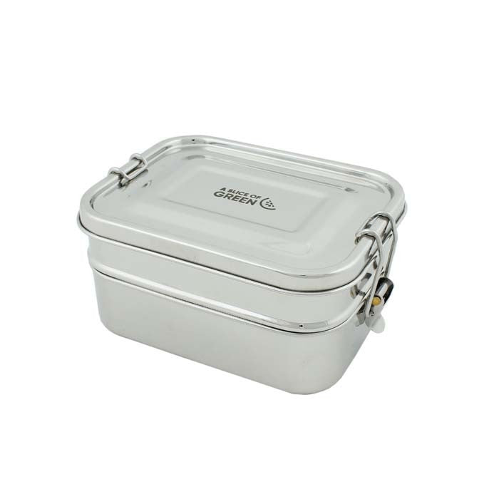 Leak Resistant Two Tier Lunch Box - Buruni, Green Pioneer, The Clean Market