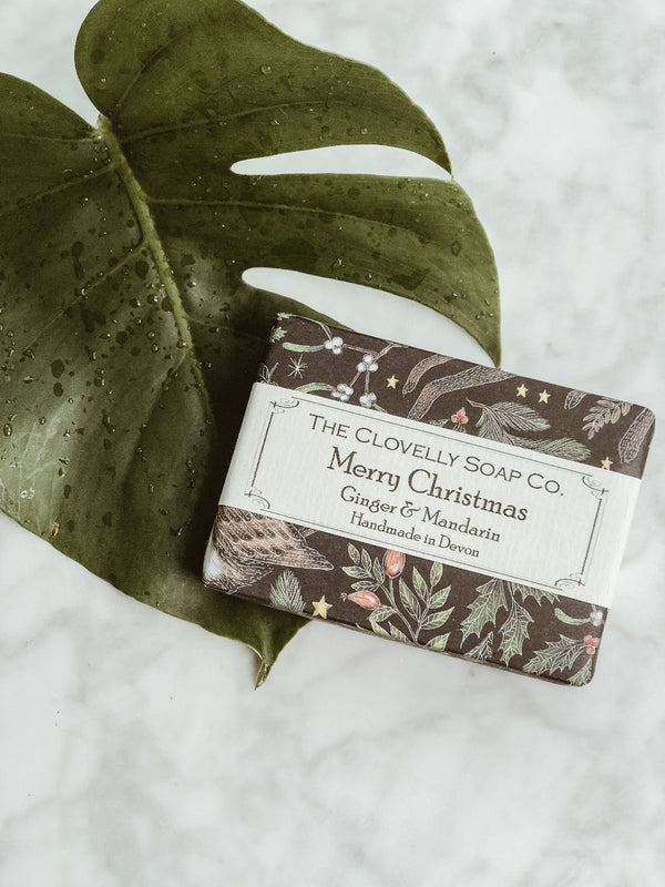 Handmade Natural Soap - Ginger & Mandarin - Christmas Edition, The Clovelly Soap Company, The Clean Market