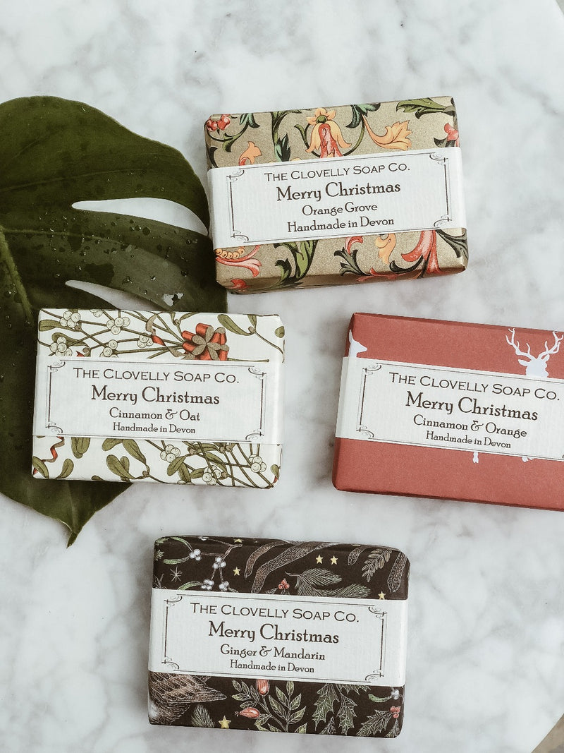 Handmade Natural Soap - Cinnamon & Orange - Christmas Edition, The Clovelly Soap Company, The Clean Market