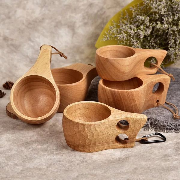 Rubberwood Tea & Coffee Cup, The Clean Market , The Clean Market