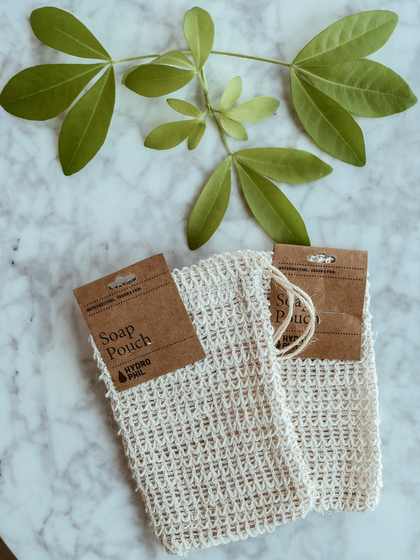 Natural and sustainable soap pouch made from 100% biodegradable sisal fibre