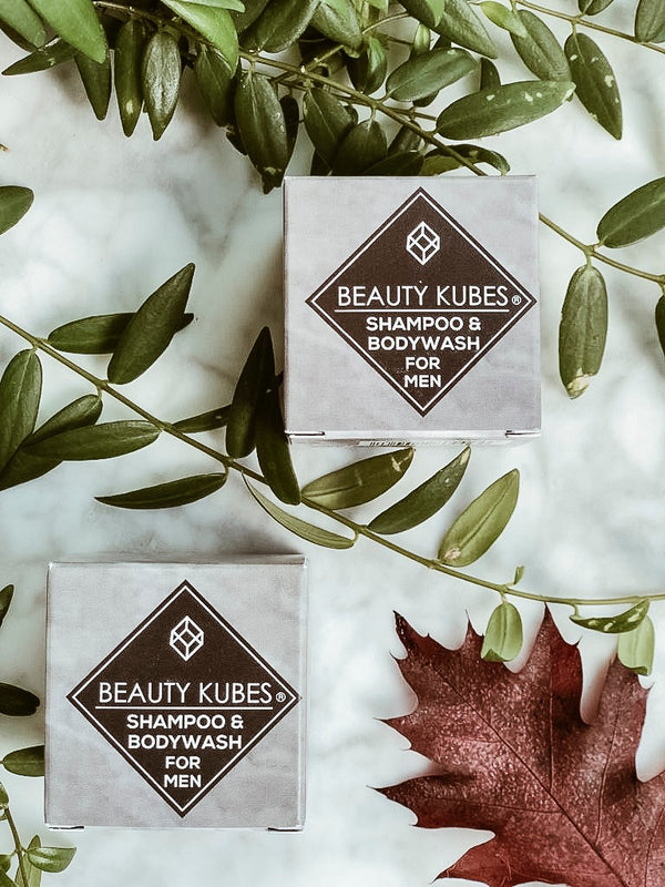 Plastic Free Shampoo and Body Wash - For Men, Beauty Kubes, The Clean Market
