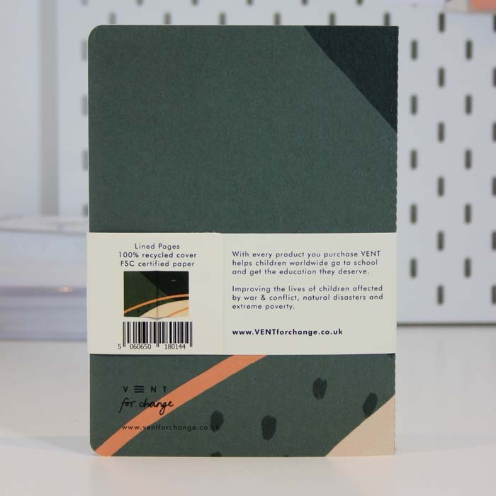 A5 Lined Notebook - Green, Green Pioneer, The Clean Market