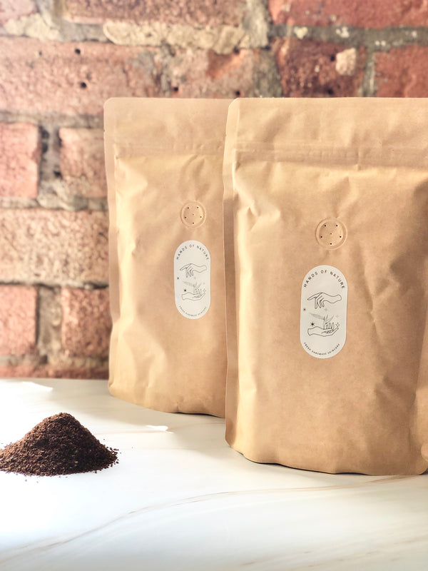 Plastic Free Organic Coffee - Ground, Hands of Nature, The Clean Market