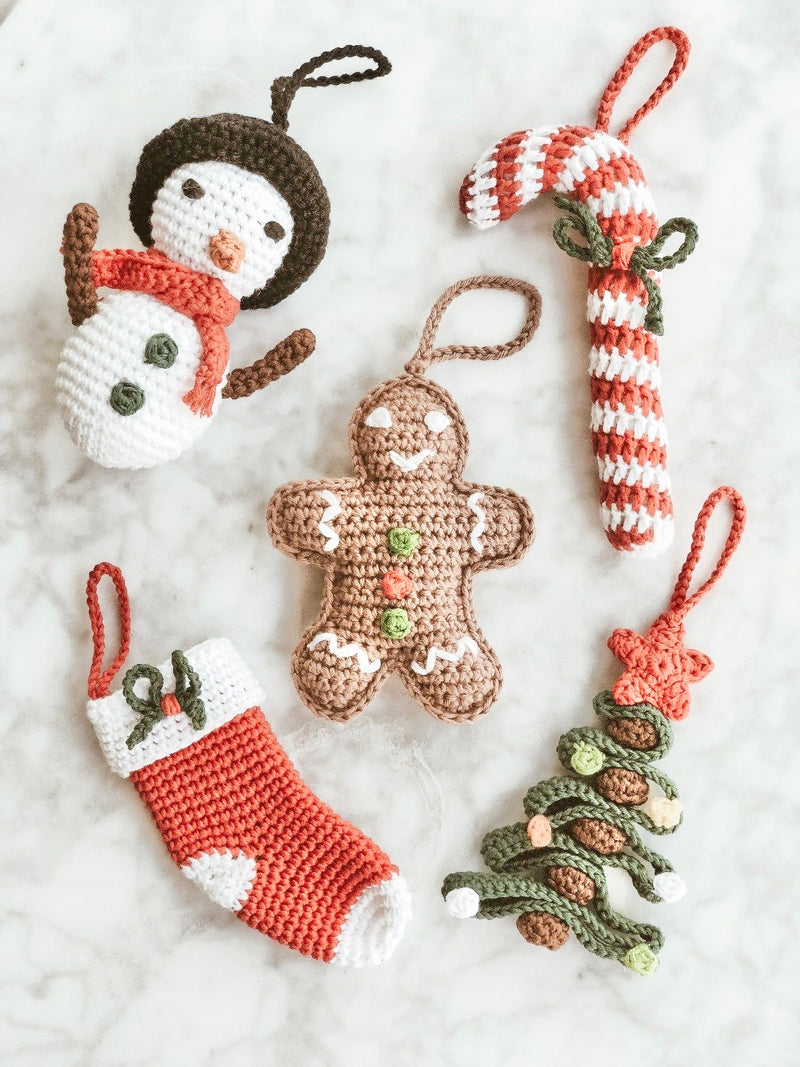 Handmade Crochet Christmas Decorations, The Clean Market , The Clean Market