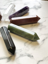 6 Faceted Massage Wand - Black Jasper, Holistic Trader, The Clean Market