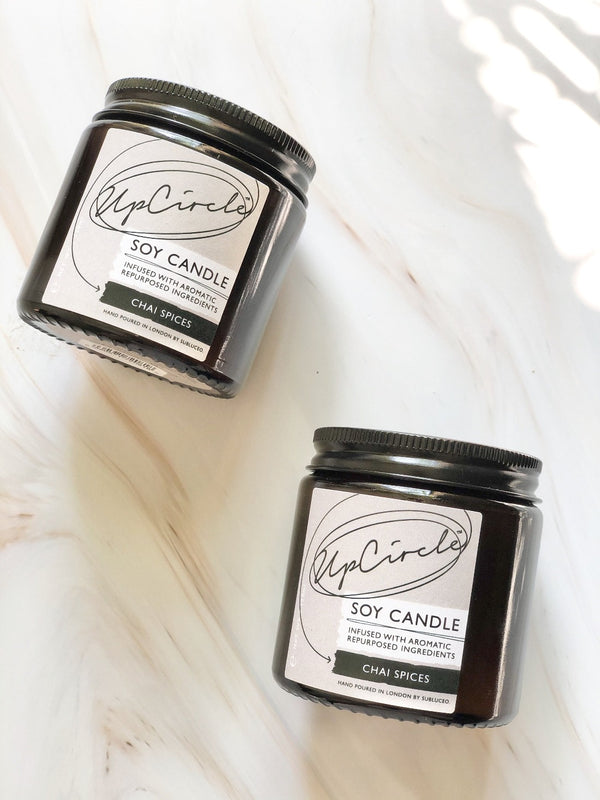 Soy Candle - Chai Spices, Upcircle, The Clean Market