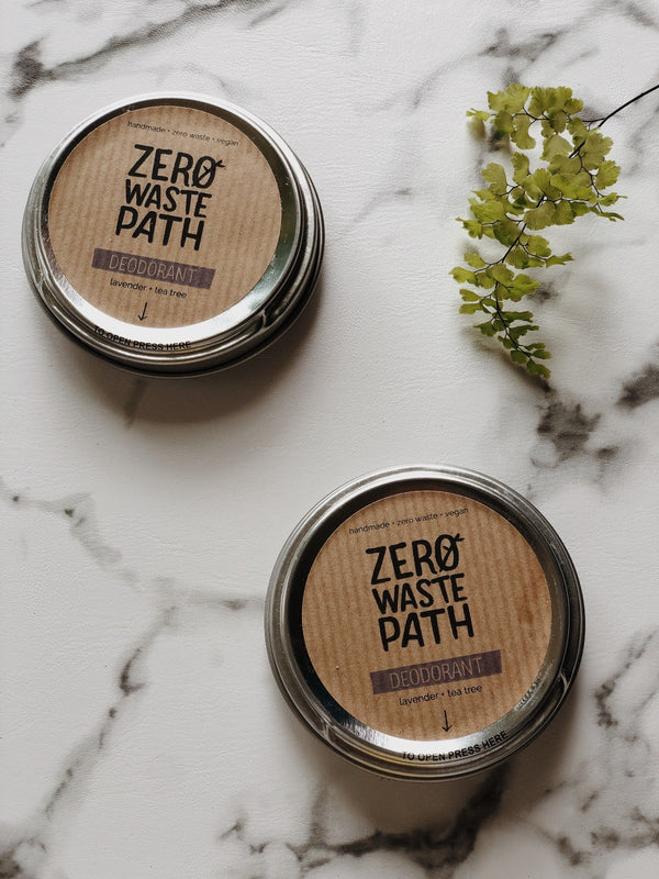 Natural Deodorant - Lavender & Tea Tree, Zero Waste Path, The Clean Market