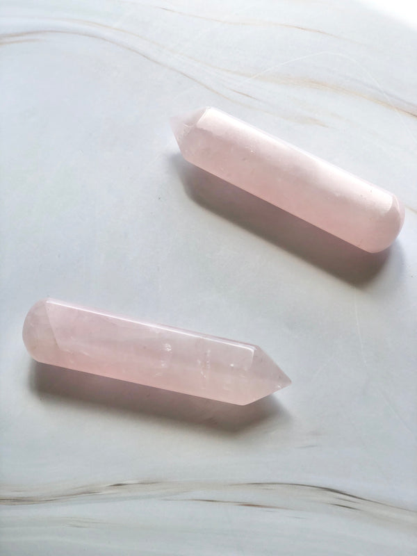 6 Faceted Massage Wand - Rose Quartz, Holistic Trader, The Clean Market
